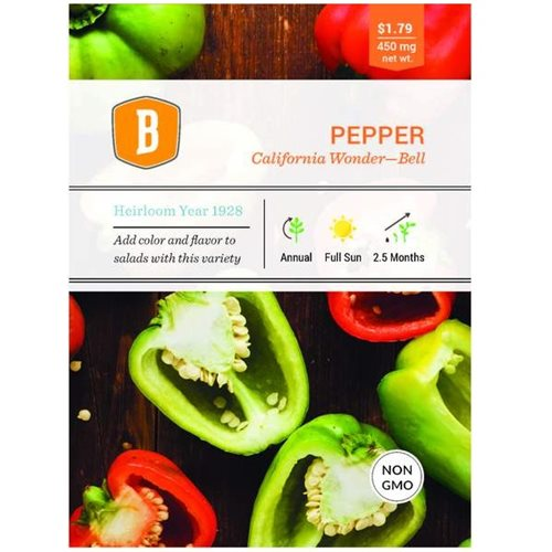 Bentley Pepper - California Wonder Seed