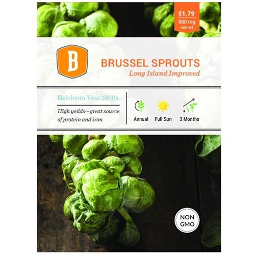 Bentley Brussel Sprouts - Long Island Improved Seed